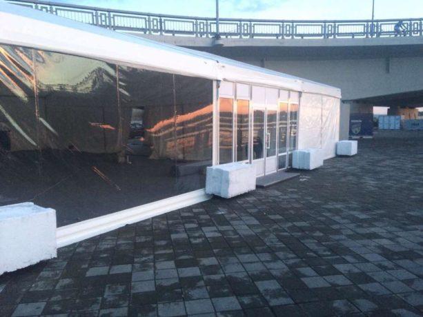 Двускатный шатер 20х20