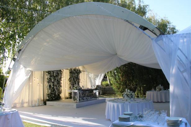 Декор шатра 100 кв.м