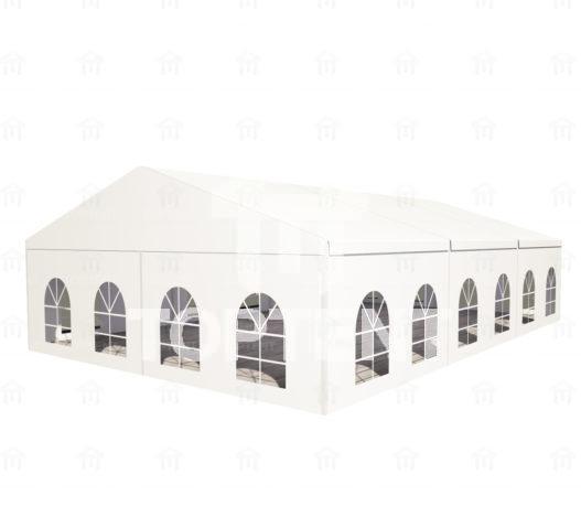 Двускатный белый шатер 10х15
