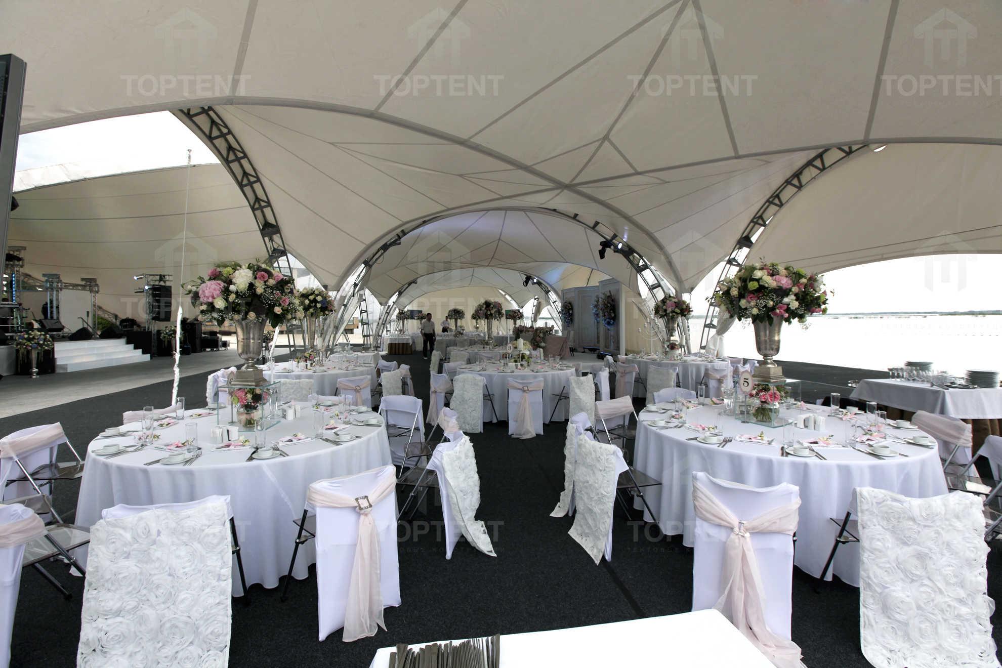 как выбрать арочный шатер для свадьбы